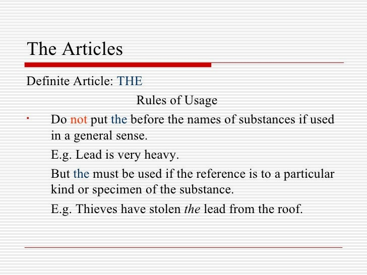 Image result for grammar article the