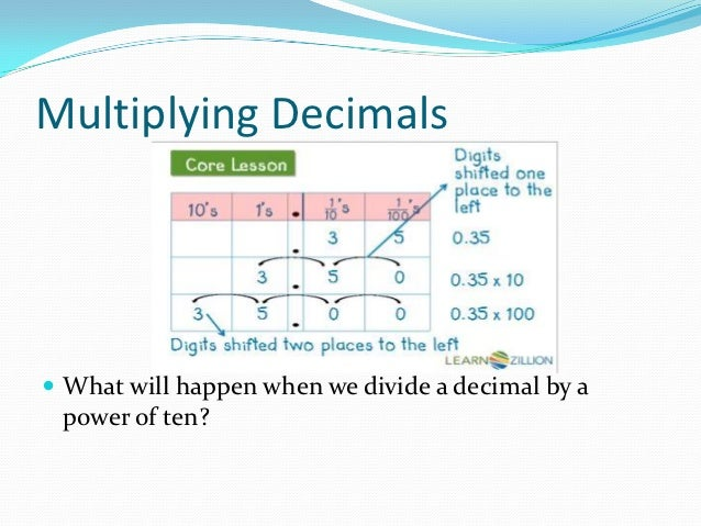 A reminder on multiplying and dividing by powers of 10