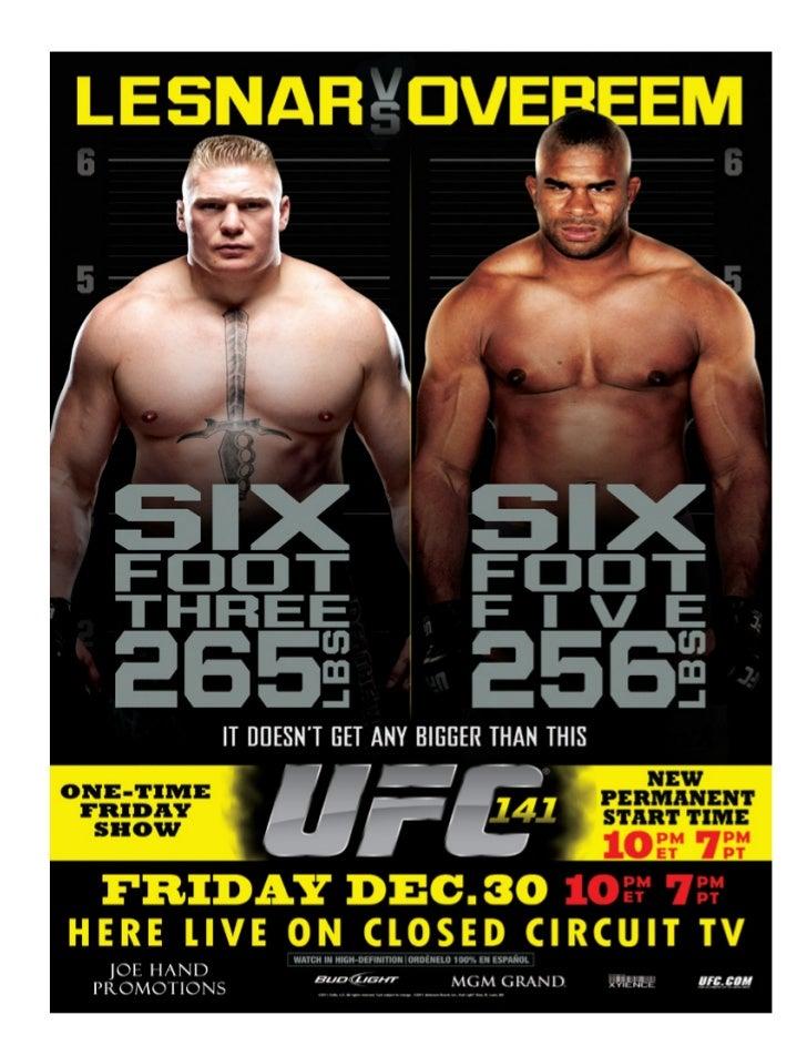 UFC Fight Night at Arena December 30, 2011 Lesnar vs Overeem