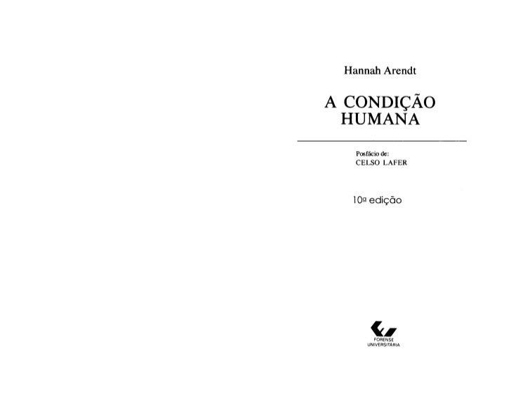 Arendt. a condição humana