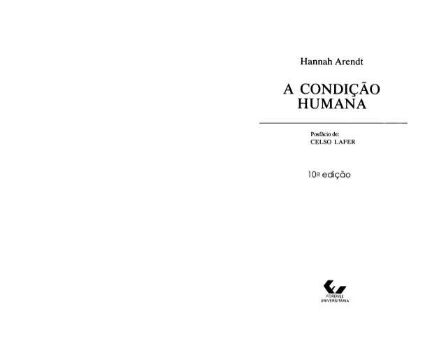 Arendt, hannah (1959) a condição humana