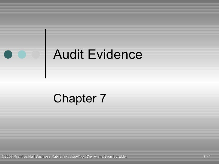 Audit Evidence Chapter 7