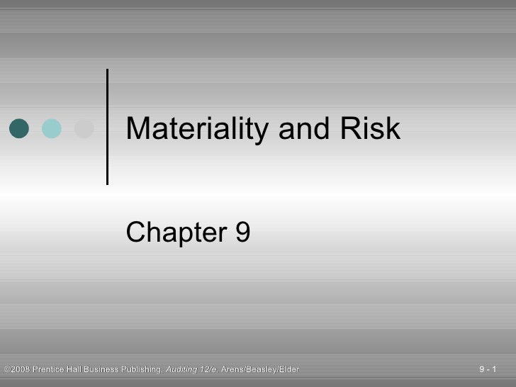 Materiality and Risk Chapter 9
