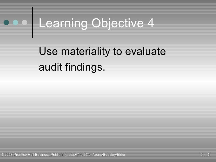 planning materiality and tolerable misstatement 7 materiality and risk t wo of the fundamental concepts that underlie the logic of the audit process are materiality and risk - specific materiality - tolerable misstatement planning the audit - estimate total misstatement in segment - estimate combined misstatement - compare combined.