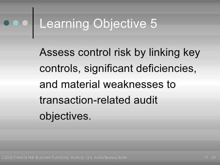 Material weakness and significant deficiency accounting essay