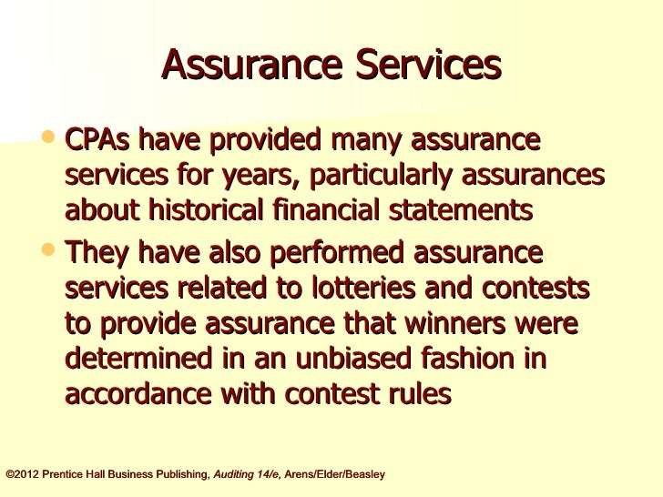 Arens14e ch01 ppt assurance services fandeluxe Gallery
