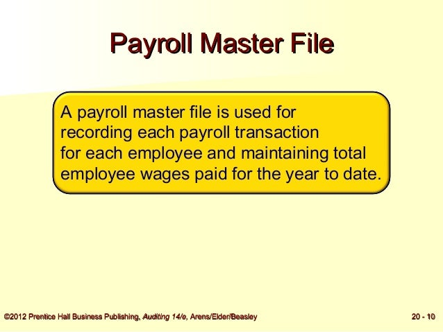 Audit of the Payroll and Personnel Cycle _ Accounting & Audting