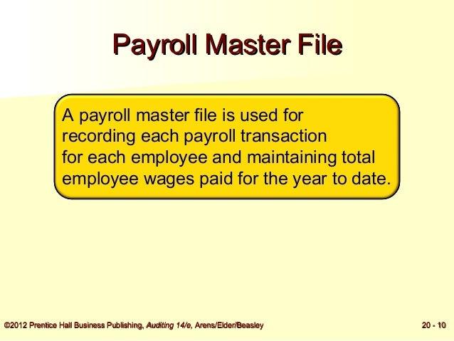 payroll master file
