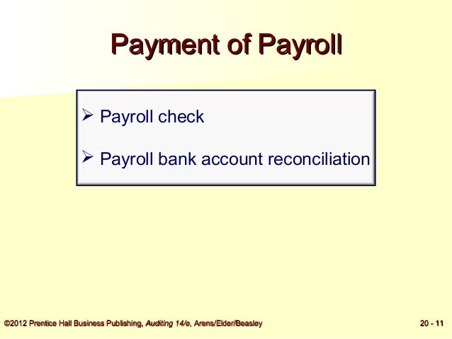 audit of payroll and personnel cycle Small business owners should audit payroll processing as part of regular business operations a good time frame for scheduling a payroll audit is at the end of each quarter of business.