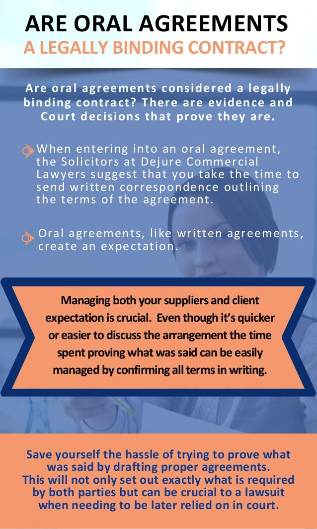 Know Are Oral Agreements A Legally Binding Contract