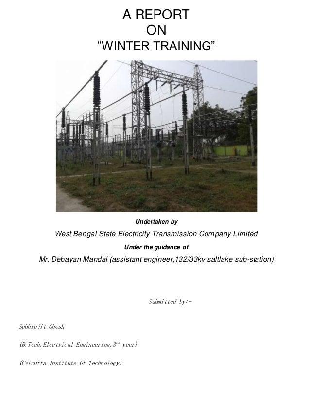 a training report of saltlake 132 33kv substation rh slideshare net