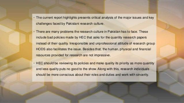research culture in pakistan