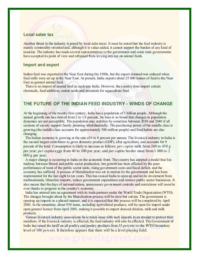 A Report On Livestock Industry In India