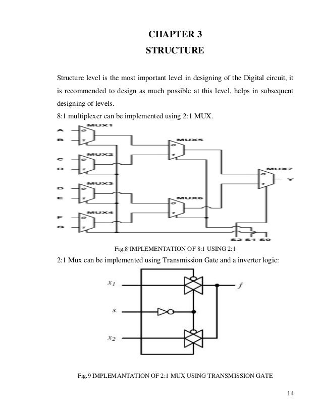 a report on 2 to 1 mux using tg  logic diagram of multiplexer #47