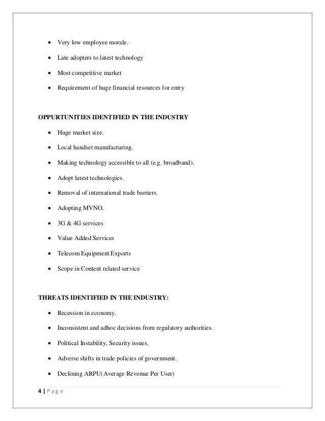 Tata Indicom SWOT Analysis, Competitors & USP