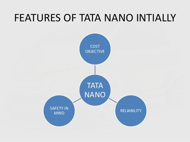 aims and objectives of tata nano Market objectives national growth • the tata nano is a four passenger city car built by tata motors aimed primarily at indian market international growth.