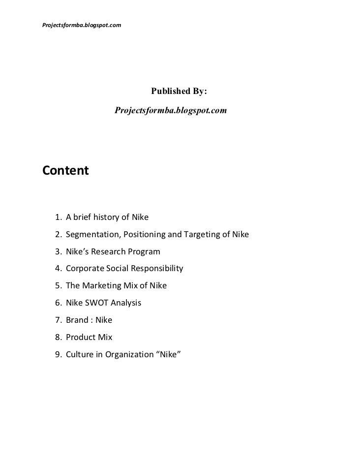 A report on consumer behaviour in nike Slide 2