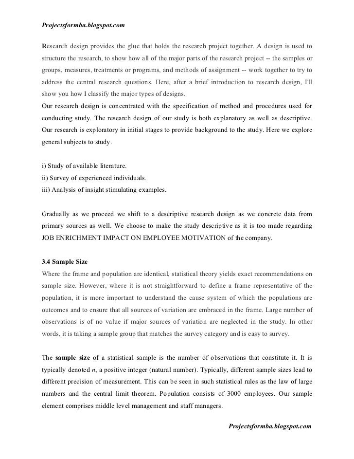 report on employees motivation applied in A study on employee motivation chapter: 1 introduction introduction towards project report on motivation the efficiency of a person depends on two factors, firstly, the level of ability to do a certain work, secondly, the willingness to do the work.