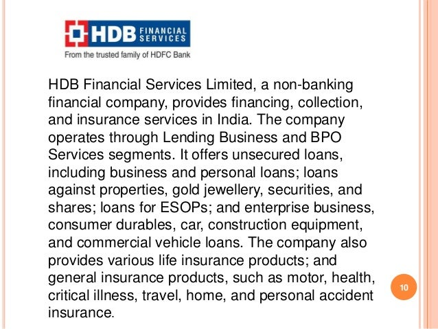A Report On Non Banking Financial Company