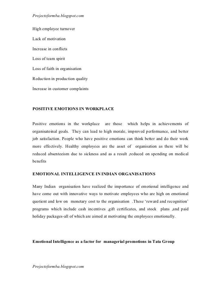 dissertations on emotional intelligence A study of emotional intelligence, thinking styles, and selling effectiveness of pharmaceutical sales representatives paige billing, university of pennsylvania.