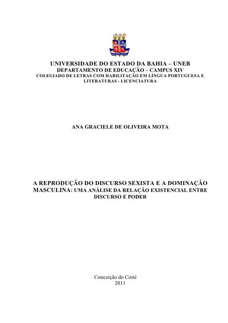 UNIVERSIDADE DO ESTADO DA BAHIA – UNEB       DEPARTAMENTO DE EDUCAÇÃO – CAMPUS XIVCOLEGIADO DE LETRAS COM HABILITAÇÃO EM L...