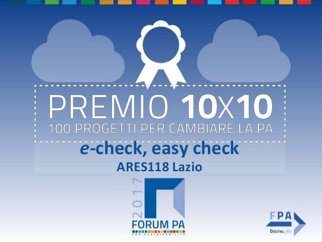 e-check, easy check ARES118 Lazio