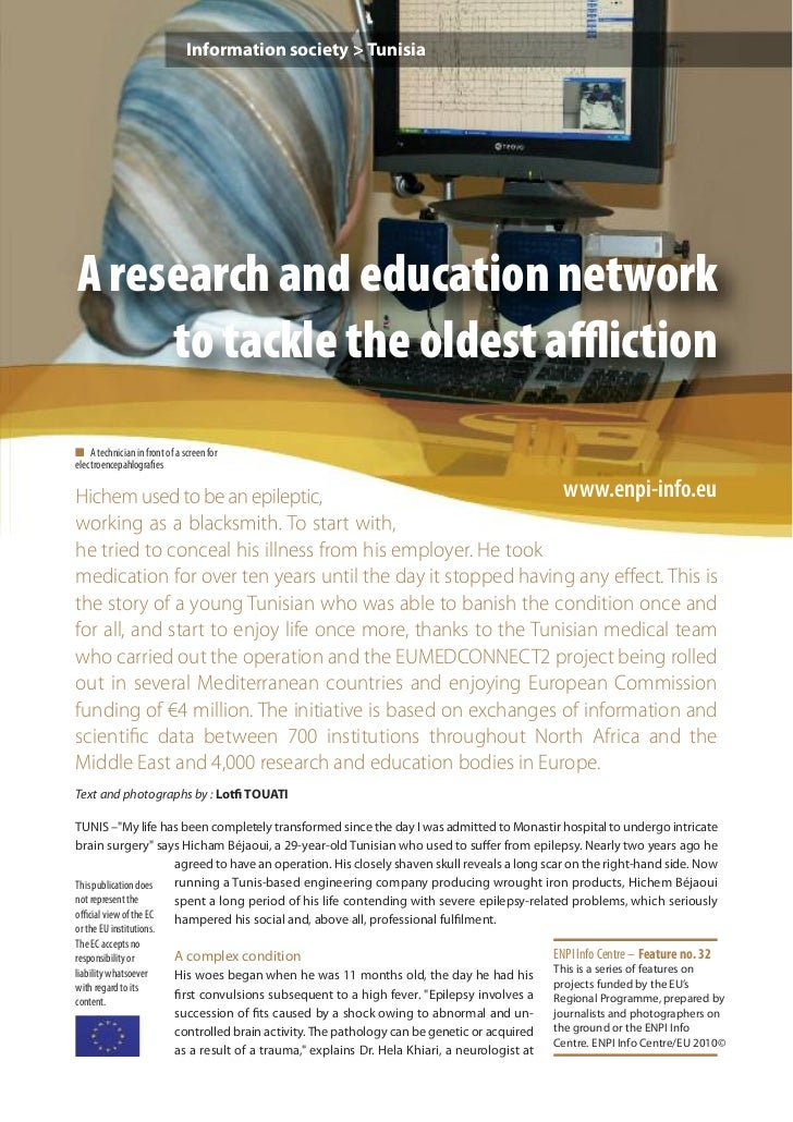 Information society > TunisiaA research and education network     to tackle the oldest afflictionn A technician in front of ...