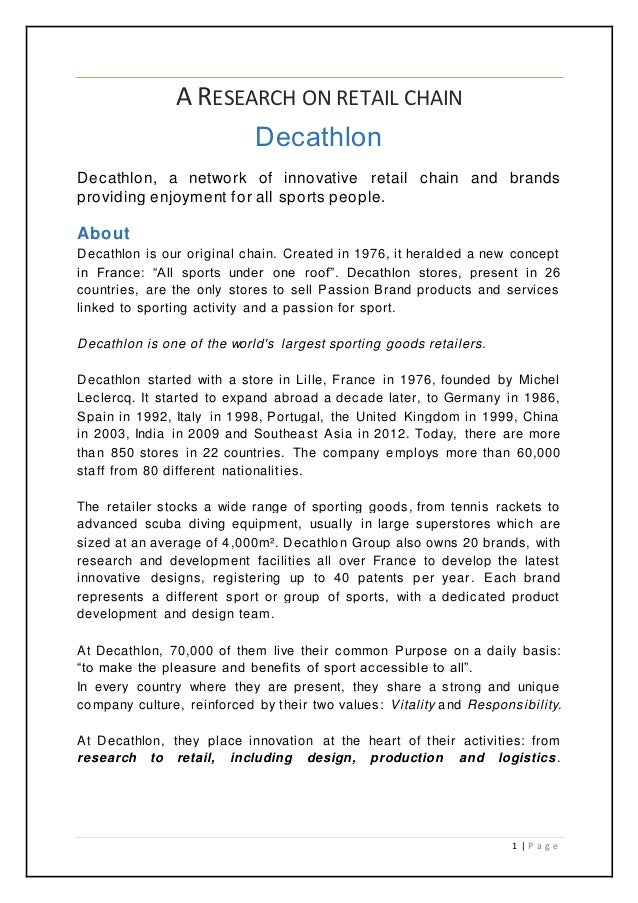 6d5332eb9 A research on retail chain - Decathlon