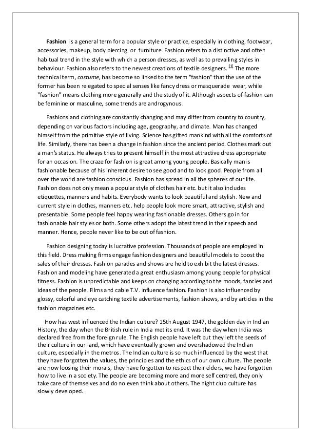Essay on Fashion Among Students for School and College Students
