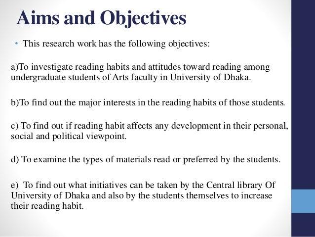 Dissertation objective