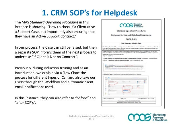 Are sop 39 s the secret to crm adoption success for Help desk procedures template
