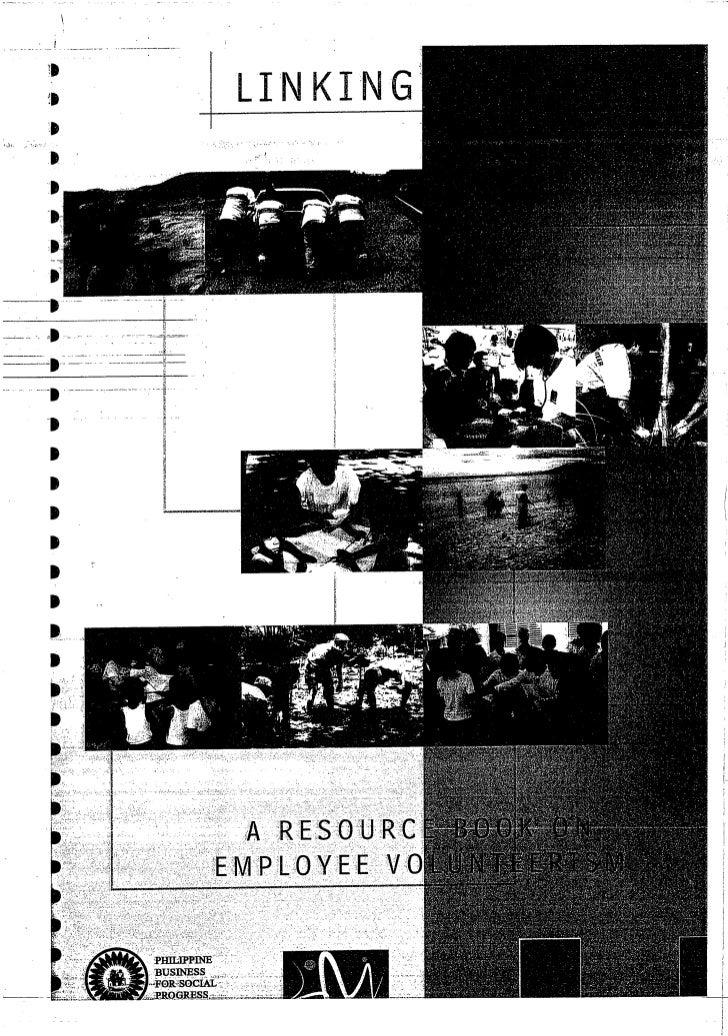 A Resource Book on Employee Volunteerism