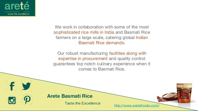 Arete - Indian Basmati Rice Distributor in Germany