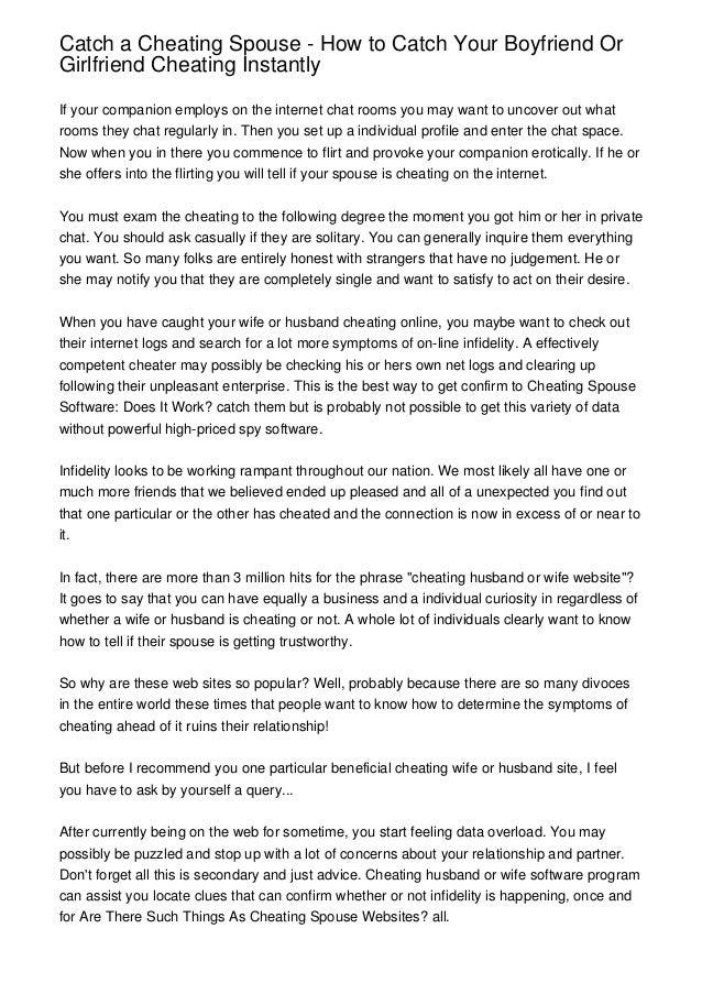 Ways to catch my husband cheating