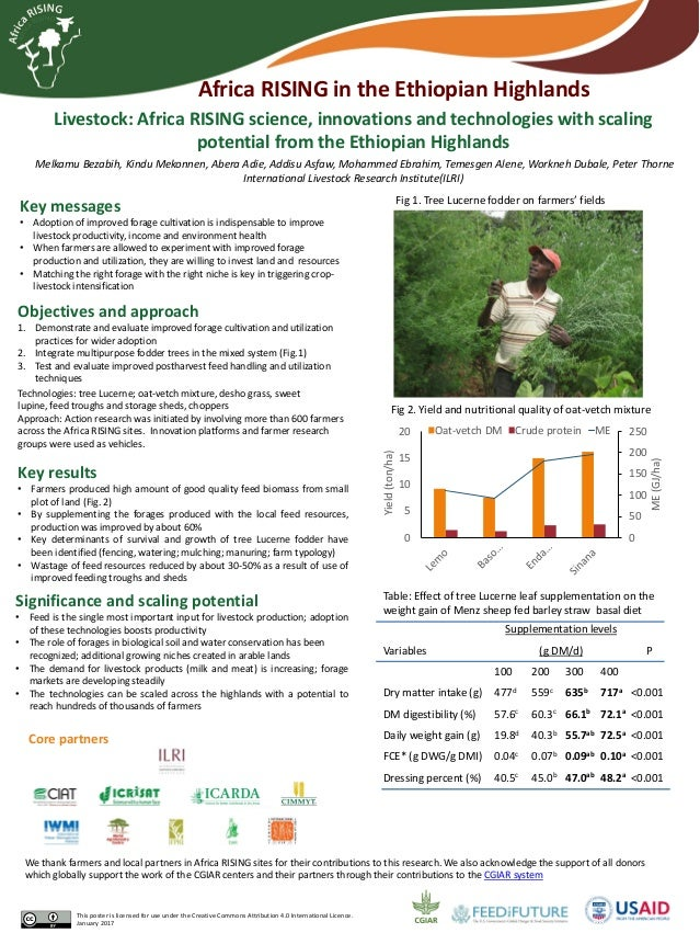 Livestock: Africa RISING science, innovations and technologies with scaling potential from the Ethiopian Highlands Melkamu...