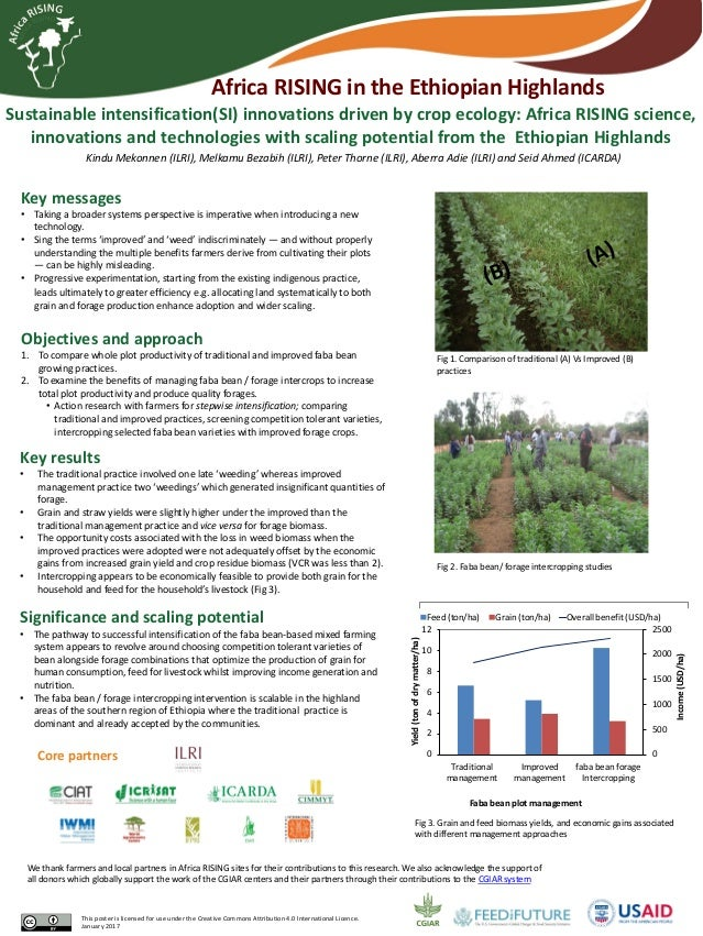 Sustainable intensification(SI) innovations driven by crop ecology: Africa RISING science, innovations and technologies wi...