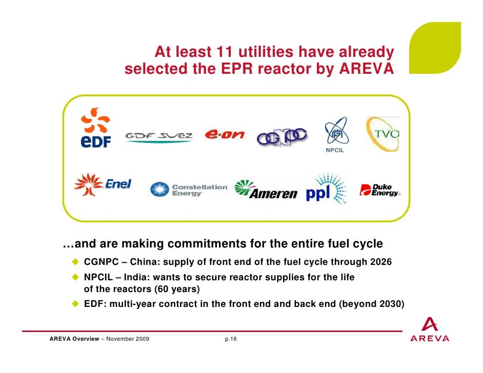 AREVA, Business & strategy overview - November 2009