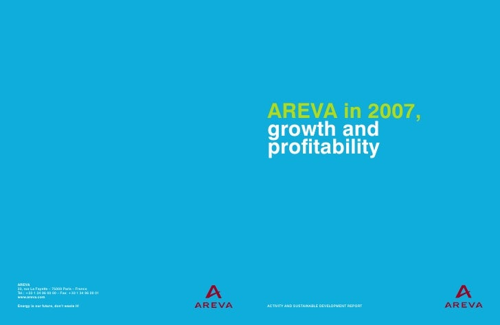 AREVA in 2007, growth and profitability