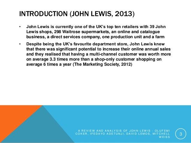 john lewis customer analysis