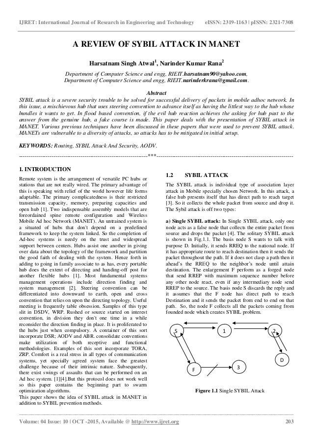sybil reaction paper