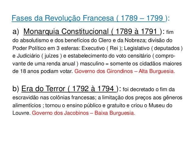 A Revolucao Francesa 1789 A 1799