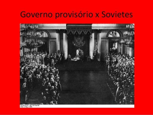 Governo provisório x Sovietes