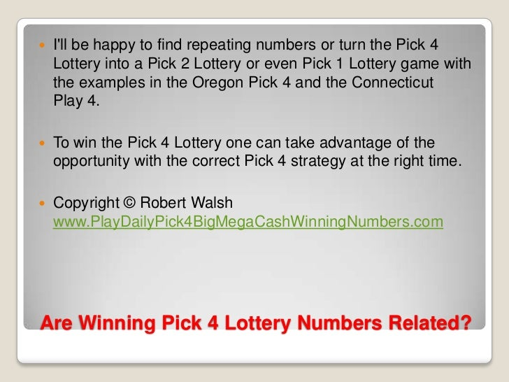 win 4 lottery numbers