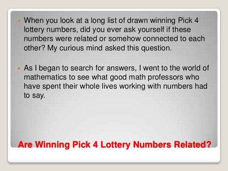 Winning pick 4 lottery strategies, audio books on law of