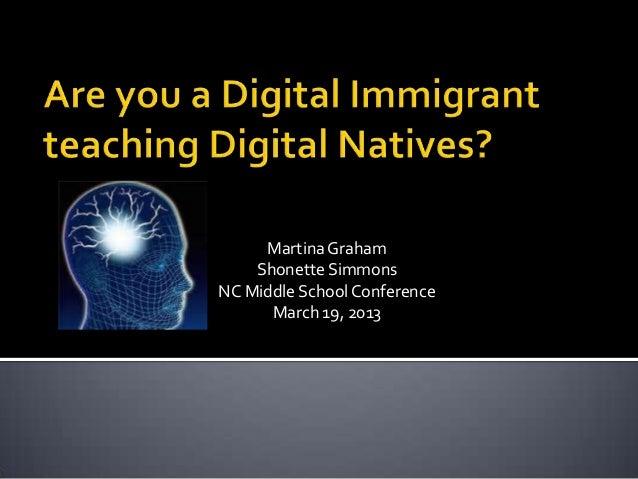 Martina Graham    Shonette SimmonsNC Middle School Conference      March 19, 2013