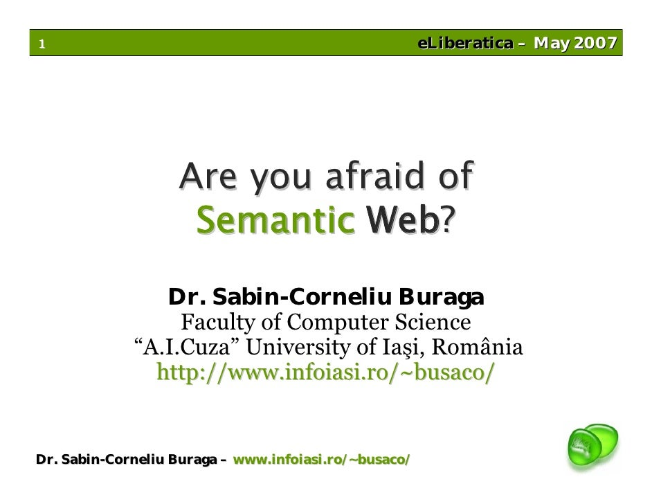 1                                                      eLiberatica – May 2007                        Are you afraid of    ...