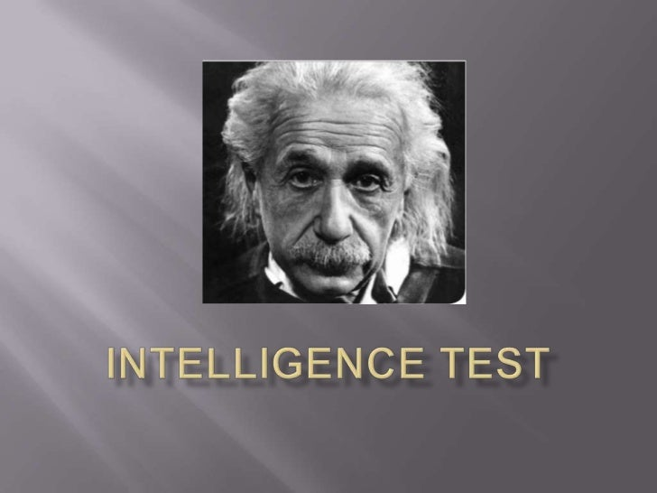 Intelligence test<br />