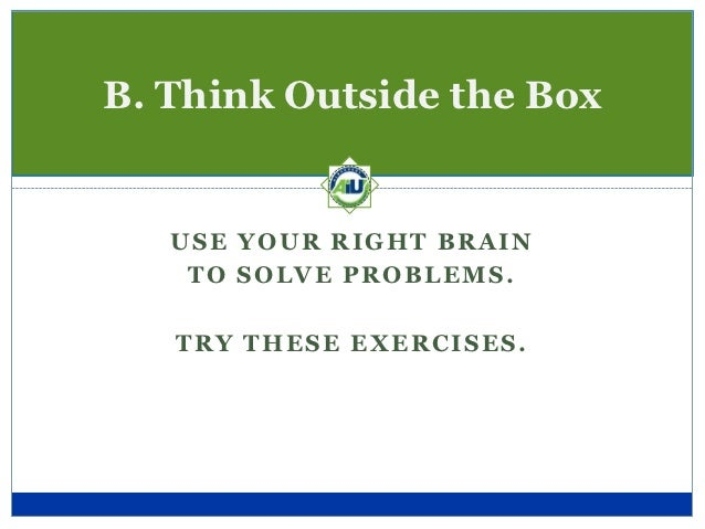 Right-Brain Exercise #1This activity shows you which of your brains is  stronger, or more exercised. Look at the next cha...