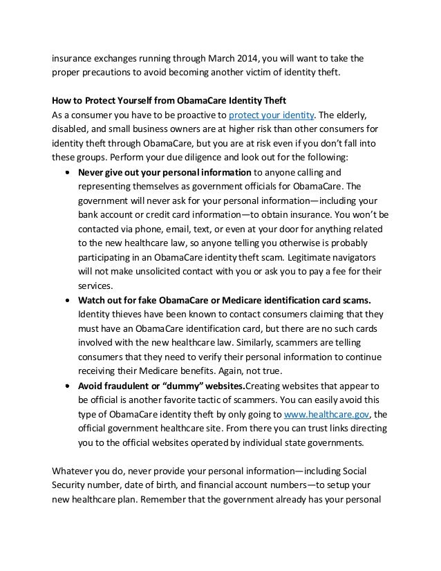 Are You At Risk For ObamaCare Identity Theft Scams? Slide 2