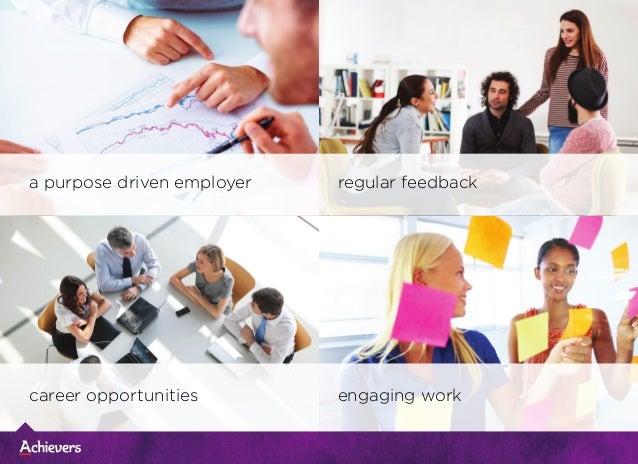 a purpose driven employer career opportunities regular feedback engaging work